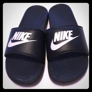 Men's Benassi Just Do It Slide Sandals by Nike.